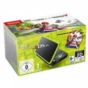 NINTENDO 2DS XL BLACK & LIME + MARIO KART 7