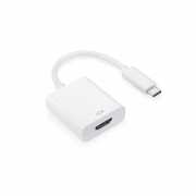 ADAPTER DE TECH  USB Type-C σε HDMI, White   18289