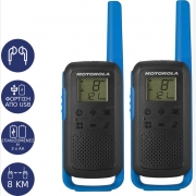 Motorola Talkabout T62 twin-pack + charger blue