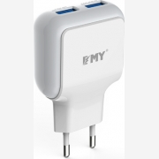 EMY POWER 2XUSB WALL ADAPTER (MY-220)