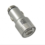 LC-POWER OEM 12V USB CAR ADAPTER SILVER   LC-USB-CAR-ALU
