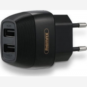 REMAX 2XUSB WALL ADAPTER 5V/2.1A Black (RP-U29)
