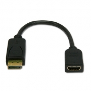 ADAPTER DISPLAY PORT male- HDMI female BLACK (18219)
