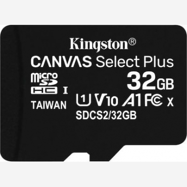 Kingston Canvas Select Plus SDHC 32GB, Read 100MB/S, Class 10   SDCS2/32GBSP
