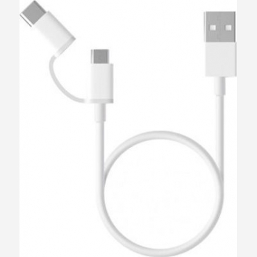 Xiaomi 2in1 USB Cable (Micro USB to Type-C) 30cm     SJV4083TY